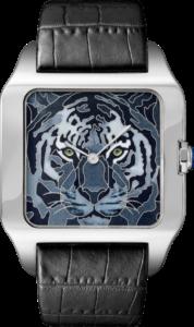 Relógio Santos-Dumont Tigre esmalte